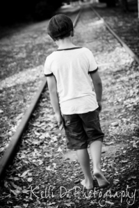 Boy on Train track-1