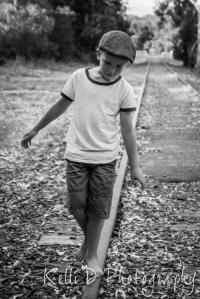 Boy on Train track-2