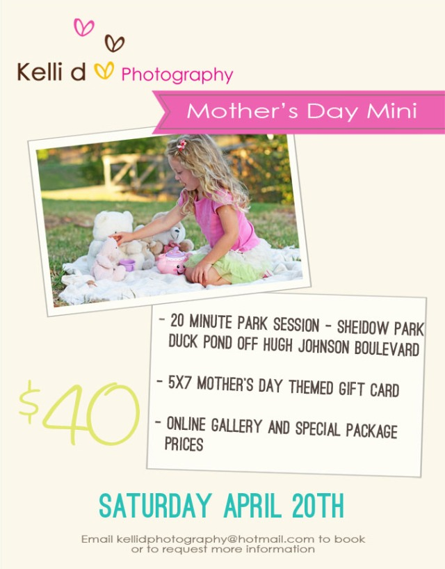 Mother's Day Mini Photography Session