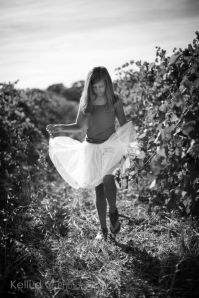 Young girl and tulle in the autumn vines-1-2